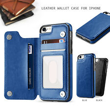 Leather Wallet Case Card Holder Cover for Apple iPhone X 8 7 Plus 6 6s Plus 5s 5
