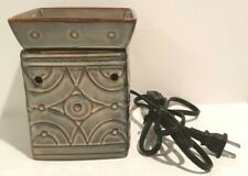 Scentsy LENOX Full Size Wax Warmer Blue Green Brown  DSW-LENO