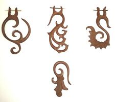 Wooden Brown Large Tribal Single Earring 4 Style Choices Festival Boho Hippie