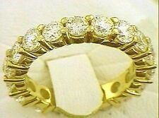 3 carat Diamond Eternity Ring 18K Yellow Gold BAND size 7 G color SI1 clarity
