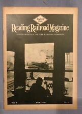 Reading Railroad Magazines from 1929-1930, Good Condition