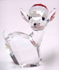 Doe With Santa'S Hat 2015 Swarovski Crystal Xmas Christmas Holiday #5135853