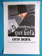 GUS BOFA Affiche originale 1983 Seita Brive la Gaillarde Illustrateur Masque