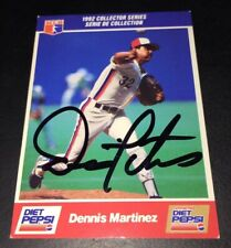 DENNIS MARTINEZ SIGNED MONTREAL EXPOS 1992 DIET PEPSI COLLECTOR SERIES CARD!