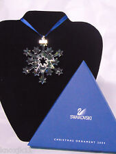 2004 Swarovski Crystal Star SNOWFLAKE CHRISTMAS ORNAMENT LE Rockefeller Center!