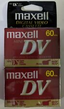 Maxell Mini DV Camcorder Video Cassette Tape 2-Pack 60 Minute DVM60SE