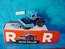 "2016 Matchbox Learning Blox ""R"" ROAD ROLLER☆blue;orange; Construction☆box"