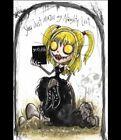 """Deathnote"" Misa Amane - Anime outsider dark art gothic print signed by Emi Boz"