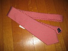 New boy's red Vineyard Vines Micro Football Pattern 100% Silk Tie Nwt Shep & Ian