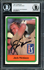 Jack Nicklaus Autographed Auto 1981 Donruss Rookie Card #13 Beckett 12058713