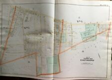 1890 E. ROBINSON, ESSEX CO., NEW JERSEY, EAST ORANGE ELMWOOD PARK ORIG ATLAS MAP