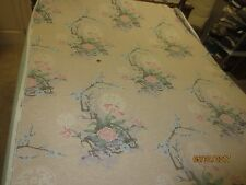 """2031 - 5TH AVENUE ASIAN FLORAL DESIGN Cotton DRAPERY Fabric - 53"""" x 5 5/8 Yds."""