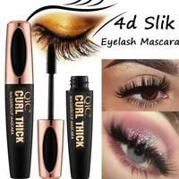 Black 4D Mascara Silk Fiber Eyelash Waterproof Extension Makeup Eye Lashes JT