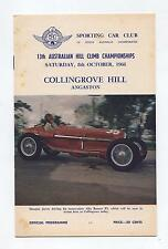 1966 Collingrove Hill Climb Programme Touring Racing Sports Vintage Production a