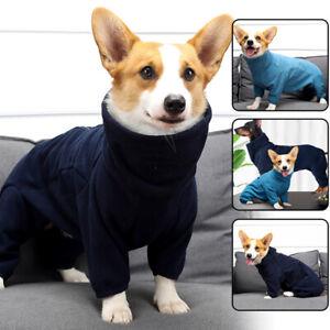 Dog Winter Warm Fleece Jumpsuit Dog Coat High Collar Pet Clothes Jumper XXS-2XL