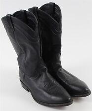 "Dan Post Black Leather 12"" Cowboy Boots MENS Shoe Sz 10.5 EW J0253"