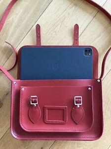 "13"" Classic Satchel Red Bag"