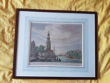 """Original Kupferstich Amsterdam Fouquet  1760 """" Mont Albans Tooren"""""""