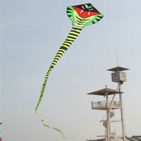 Hengda Kite 15m Large Power Snake Kites with Flying Line Outdoor Fun Sports
