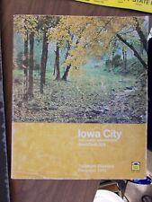 1971 IOWA CITY IA IOWA TELEPHONE DIRECTORY PHONE BOOK
