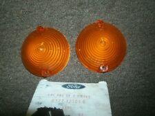NOS 1965 66 FORD MUSTANG PARKING LAMP LENSES PAIR AMBER