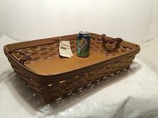 Warm Brown Large Serving Basket Longaberger New Protector Available