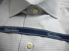 NEW! Brooks Brothers Gray Check Regent Slim Fit Shirt 17 - 34 MSRP $225 ~ NWT