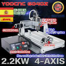 【ES】4-Axis 6040 2.2KW USB Mach3 CNC Wood Router Engrave Milling Machine 220V Kit
