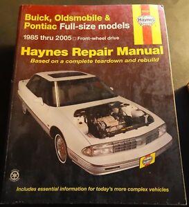 1985-2005 HAYNES BUICK, OLDSMOBILE PONTIAC FULL SIZE SERVICE MANUAL 19020 (201)