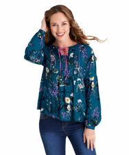 Collared Boho Floral Tops & Shirts for Women