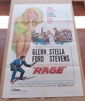 Rage Movie Poster, Original, Folded, One Sheet, year 1966, Printed in U.S.A.