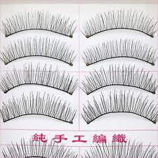 New Natural Cross Handmade Eye Lashes Makeup Extension False Eyelashes 10 Pair F