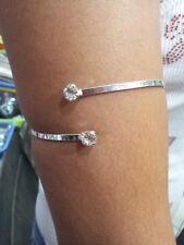 bracciale schiava 2 strass 5 mm  da braccio pl argento bracelet snake