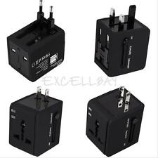 Universal Travel Dual USB Power Multi Adapter Plug AU/UK/US/EU Converter Socket
