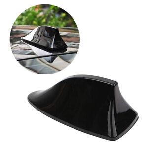 Car Shark Fin Roof Antenna Radio FM/AM Decor Aerial Set Black Replace Kit OXILAM