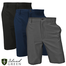 "ISLAND GREEN MENS TAPERED FIT GOLF SHORTS / SIZES 32"" TO 40"" / BUY 2 GET 10% OFF"