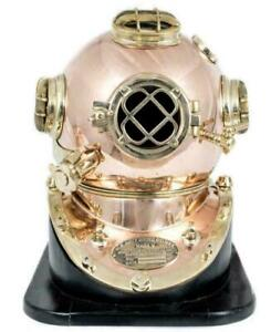 Mark V US Navy Full Size Copper and Brass Diving Helmet Exclusive Collection