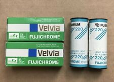 RARE! Japan Fujifilm Fujichrome Film 220 & Velvia 50 RVP, Professional Film 120