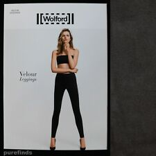 WOLFORD VELOUR GRAPHIT LEGGINGS SIZE 34 UK 6 SUEDE EFFECT RRP £225