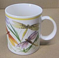 STARBUCKS COFFEE COMPANY 13 oz WHITE CERAMIC DRAGONFLY PRINT COFFEE CUP/MUG EUC