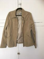 Lovely Ladies Real Suede Stone Beige Jacket Size L
