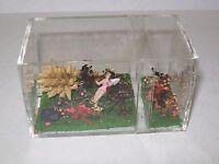 Vintage Handmade Miniature Dollhouse Fairy Garden with Tiny Fairy Cute