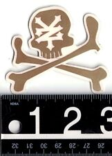 ZOO YORK SKATE STICKER Zoo York Gold Skull & Cross Bones 3 in. x 2.5 in Decal