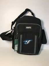 Toronto Blue Jays ROOTS Black Small Travel Bag Adjustable Strap Embroidered Logo
