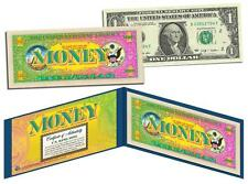 THE COLOR OF MONEY Colorized $1 Bill US Genuine Legal Tender MUST SEE - VIBRANT