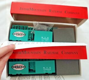 Lot 2-InterMountain Railway Company PS-1 NYC Jade Green Boxcar-Unassembled Kits