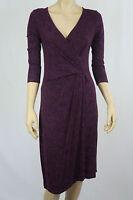Crossroads Ladies Drape Wrap Dress sizes XSmall Black Purple Barque