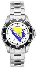 Bosnien Geschenk Artikel Bosnische Bosnier Fahne Flagge Uhr 1093