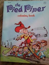 """Vintage Playmore """"the Pied Piper"""" coloring/activity/educational book"""