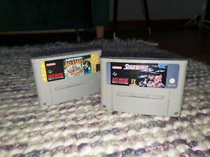 Super Mario All-Stars/Starwing Super Nintendo SNES Cartridge Bundle PAL